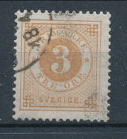 Sweden 1877, Facit # 28. Circle Type, Perforation 13. USED - Suède