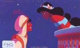 Télécarte Japon / 110-144403 - DISNEY - ALADDIN & YASMINE (5950) Série Film 3/3 - Japan Phonecard - Disney