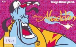 Télécarte Japon / 110-153523 - DISNEY / Film ALADDIN (5951) Japan Movie Phonecard Telefonkarte - Disney