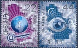 SRB 2011-415-6 DIGITAL SERBIA, SERBIA, 1 X 2v, MNH - Informática
