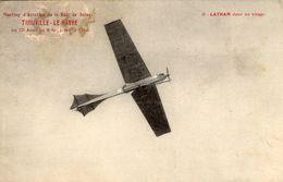 Meeting D'Aviation De La Baie De Seine - Trouville-Le Havre  - Latham Dans Un Virage   -  CPA - 1914-1918: 1. Weltkrieg