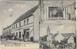 AK Gruss Aus Glinde Gasthof Zum Goldenen Anker Festsaal Dorfstrasse Ca. 1915 - Glinde