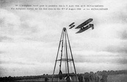 Aux Hunaudières  -  L'Aéroplane Lancé Pour La Première Fois Le 8 Aout 1908  -  CPA - ....-1914: Precursori