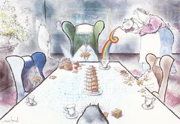 SEARLE Ronald - Publicité Petit Beurre LU - LU à La Carte - Jeu De Cartes Chat  - CPM  10.5x15 TBE 1990 Neuve - Illustrateurs & Photographes
