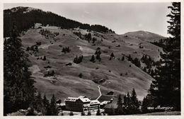 MORGINS  (Canton Du Valais) - Hôtel Belvédère Et Pic Chaussy - Cpsm Vierge Années 60 - Vue Rare Côté Alpage - 2 Scans - VS Valais