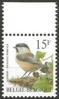 Belgium - 1997 Willow Tit MNH **    Sc 1641 - Unused Stamps