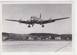 Landung Einer Swissair DC-4      (P-111-60624) - 1946-....: Era Moderna