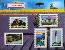 FR. 2004 - BLOC & FEUILLET Issu Du N° 77 La France à Voir N° 4 - 5 TIMBRES NEUFS** 2,50€ Vendu Sous Faciale - TBE - Blokken En Velletjes
