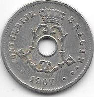 Belguim 5 Centimes 1907 Dutch   Vf - 03. 5 Centimes