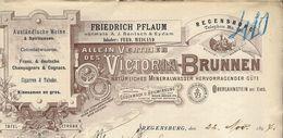 Allemagne - Regensburg  - Entête Du 22 Novembre 1897 - Friedrich Pflaum -Victoria-Brunnen - Alimentaire
