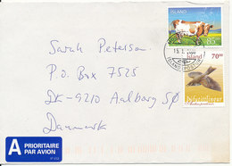 Iceland Cover Sent To Denmark 15-1-2006 Topic Stamps - 1944-... Republik
