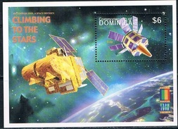 Bloc Sheet Espace Space Neuf ** MNH Dominica 2000 - Space