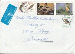 Kenya Cover Sent To Denmark 16-2-1999 Topic Stamps Birds And Wild Animals - Kenia (1963-...)
