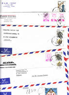 Syrië Syria 5 Air Mail Lettres Mooie Frankering - Syrie