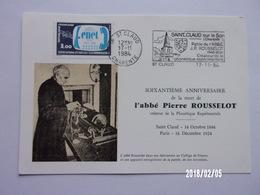 ST Claud - 1984 Abbé Pierre Rousselot - 1980-89