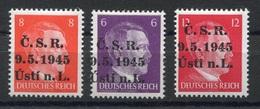 RC 6990 - LIBERATION DE LA TCHECOSLOVAQUIE 1945 ALLEMAGNE HITLER SURCHARGÉS CSR 9.5.1945 USTI N.L. NEUF ** - TB - Nuevos