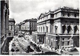 MILANO - VIA S.MARGHERITA - FILOBUS AUTO CARS ANIMATA - VERA FOTO - VG 1953 FG - C559 - Milano