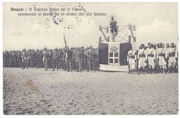 Cpa Libye ( Libia ) - Bengasi - Il Capitano Ferlito Del 4° Fonteria Commemora ... 19 Ottobre 1911 Alla Giuliana - Libye