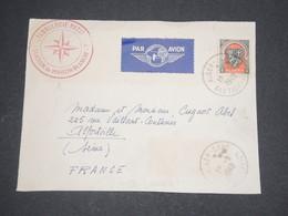 """ALGÉRIE - Devant D'enveloppe D ' Alger Pour La France En 1949 , Cachet Rouge """" Métérologie Nationale  """"- L 13087 - Algérie (1924-1962)"""