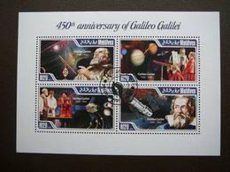 Galileo Galilei Space. Raumfahrt. Espace # Maldives # 2014 Used S/s # - Space