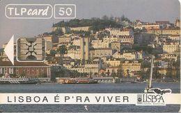 CARTE-PUCE-50 U-SC4-11/92-LISBOA -BOAS FESTES-BONNES FETES-R°/V° Glacé-50000 Ex-UTILISE-TBE-RARE - Portogallo