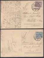 VATICAN - 1929 - Affr. Timbres 25 Et 75 Ct Sur Deux Cartes Postales - Correspondance De Rome Pour Paris Et Neuilly - - Brieven En Documenten