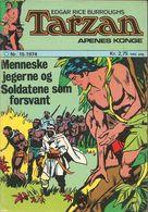 Tarzan Apenes Konge N° 15 – Menneskejegerne (in Norwegian) Williams Forlag Oslo - Juli 1974 - Limite Neuf - Scandinavian Languages
