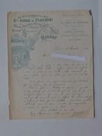DIJON: Lettre à En-tête 1902 Bureau De Placement Des Garçons Boulanger Meunier Patissier Confiseur - Rue Des Forges - France
