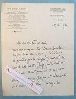 L.A.S 1921 BINET VALMER écrivain Franco-suisse - Né à Genève - à Léon TREICH Lettre Autographe - Soldats Combattants - Autógrafos