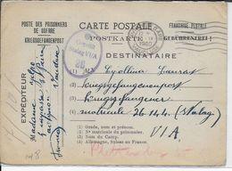 1940 - PRISONNIER De GUERRE - CARTE (MODELE PEU FREQUENT) De AVIGNON (VAUCLUSE) Pour Le STALAG VIA - 2. Weltkrieg 1939-1945
