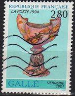 France 1994 1 V Used Galle Verrerie - Vetri & Vetrate