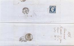 France Lettre Du 9 Juin 1856 De La Chartres Sur Le Loir à Angers - Marcophilie (Lettres)