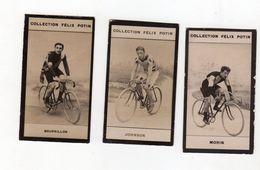 Lot De 3 Images Collection Felix Potin Cyclisme : Bourrillon Morin Et Johnson - Félix Potin