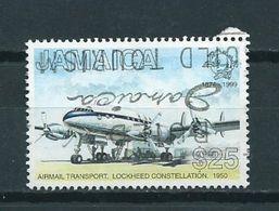 1999 Jamaica 125 Years UPU,airplanes Used/gebruikt/oblitere - Jamaica (1962-...)