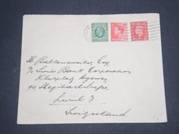 GRANDE BRETAGNE - Enveloppe De Londres Pour La Suisse En 1937 - L 13113 - 1902-1951 (Kings)