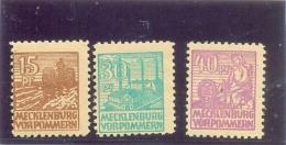 1940 MAECKELBURG VDRPOMMERN Y & T N° 32 - 34 - 35 ( * ) Les 3 Timbres - Zone Soviétique