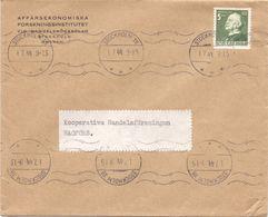 Enveloppe Kuvert - Pub Reklam Affarsekonomiska Stockholm - Till Hagfors Sverige Zweden 1944 - Postal Stationery