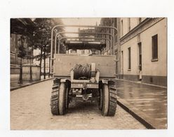 Photo Militaire Roue Martin Landrin Autre Vue Avec Véhicule Militaire Complet WW1 Par Cayer Paris - Guerre, Militaire