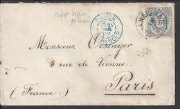 ALLEMAGNE - 1889 - Timbre 10 Kr Sur Enveloppe De Johannisbad Pour Paris - B/TB - - Allemagne