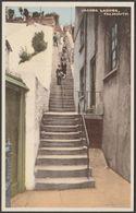 Jacob's Ladder, Falmouth, Cornwall, C.1920s - W H Smith Aqua Tone Postcard - Falmouth