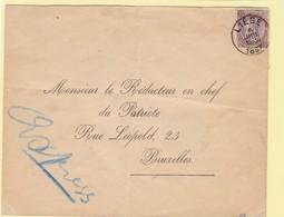 N° 49 / Envel. EXPRES De Liege  Vers BXL - 1884-1891 Leopoldo II
