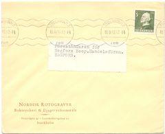 Enveloppe Kuvert - Pub Reklam Nordisk Rotogravyr Stockholm - Till Hagfors Sverige Zweden 1943 - Postal Stationery