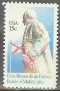 1980 15 Cents De Galvez Mint Never Hinged - Verenigde Staten