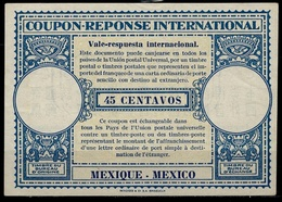 MEXICO / MEXIQUE Ca 1948, London Type XVr 45 CENTAVOS International Reply Coupon Reponse Antwortschein IAS IRC Mint ** - Mexique