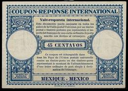 MEXICO / MEXIQUE Ca 1948, London Type XVr 45 CENTAVOS International Reply Coupon Reponse Antwortschein IAS IRC Mint ** - Mexiko