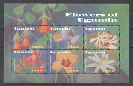B290 UGANDA FLORA NATURE & PLANTS FLOWERS OF UGANDA 1KB MNH - Pflanzen Und Botanik