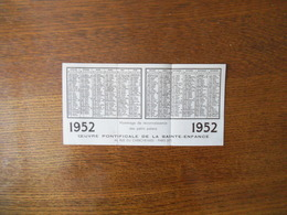 1952 OEUVRE PONTIFICALE DE LA SAINTE ENFANCE - Calendriers