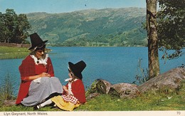 Postcard Llyn Gwynant North Wales Welsh National Costume PU 1971 By Bamforth My Ref  B11878 - Costumes