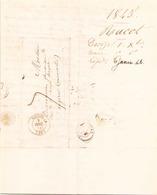 France Lettre Du 1 Décembre 1845 De Decize à Angers - Storia Postale