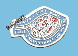 Pin's Tennis, MIMIZAN, LANDES, Finale Du Championnat Du Monde Féminin 1992 - Tennis